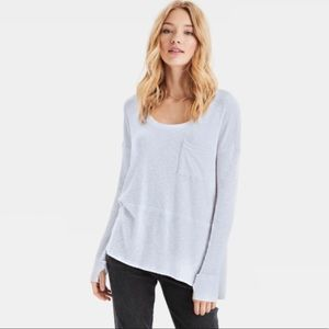 American Eagle Plush Oversized Scoop Neck T-Shirt